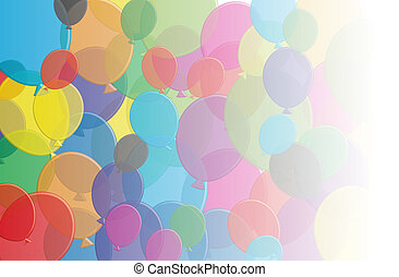 Ballons fade - A selection of multi coloured balloons that...