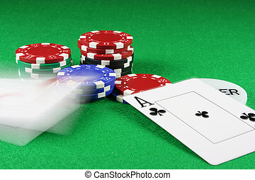 Poker - Beat that - A pair of aces thrown on the baize,...