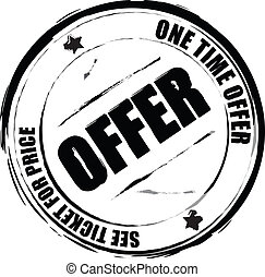 offer - A black and white offer stamp that can be used in a...