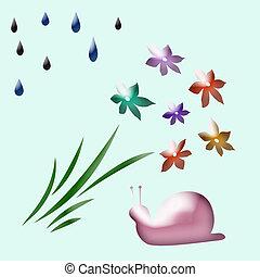 pink snail garden