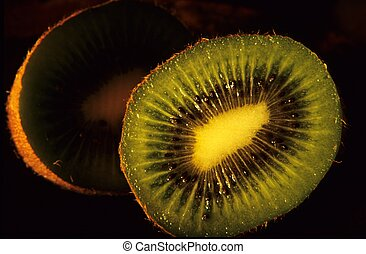 Kiwi fruit - Cut Kiwi fruit