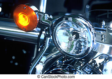 Motorcycle Lights - Tail lights on a motorcycle