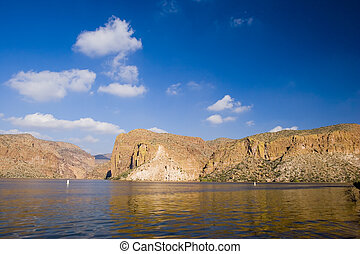 Canyon Lake Vista - Desert Canyon Lake in Mountains of Tonto...