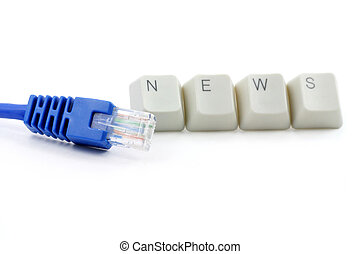 medios, concepto, en línea, noticias