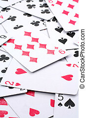 card games close up for background