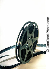 16mm movie reel on a white background