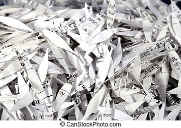 Shredded Paper 2 - Photo of shredded paper closeup showing...