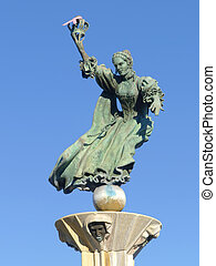 Queen Charlotte - A statue at Charlotte Airport in North...