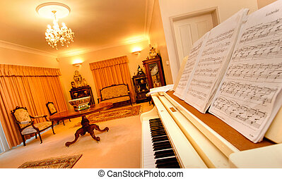 Luxury house - A magnificent home sitting and recital room...