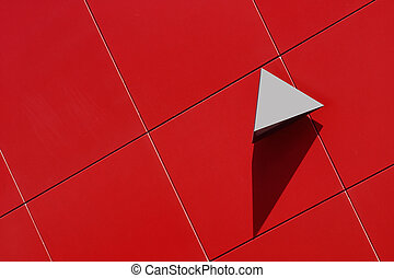 Shapes - Angular objects on the wall of a modern building in...