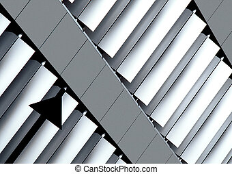 Aluminium - A part of a building in...