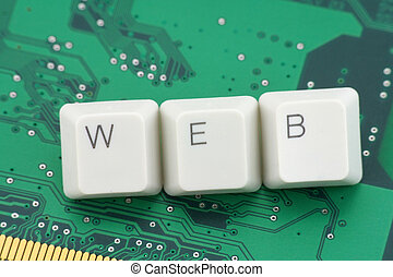 concept of world wide web - letter keys close up, concept of...
