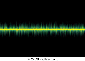 Flat Line Pulse - conceptual image of a flatline pulse from...