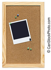Corkboard with Empty Poloroid - Mini Corkboard with empty...