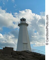 Lighthouse and cloud 4 - a lighthouse in front of cloudy sky...