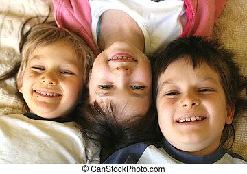 happy children - fun at home