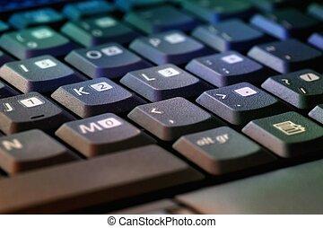 Keys of keyboard - keys of a computers keyboard