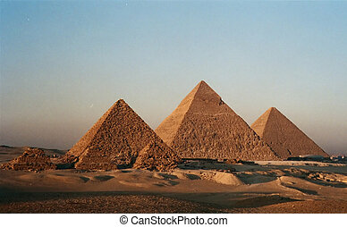 The Pyramids - The three Pyramids of Gizah Cairo - Egypt