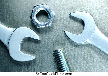 spanner4.jpg - Spanner with nuts and bolts.