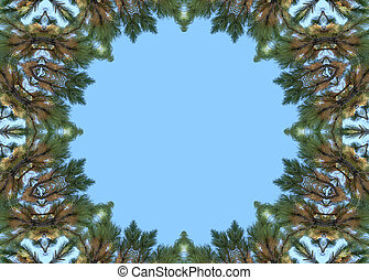 Stock Image of Christmas Frame - Bright christmas frame with...