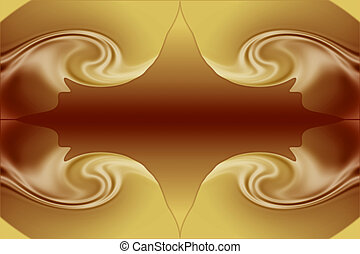 Stock Image of Chocolate and Caramel Background - Beautiful...