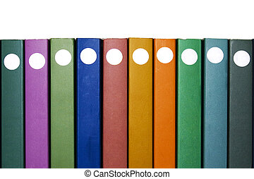 Ten Books - Ten books on white with different colors