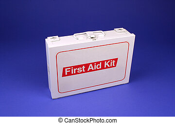 First Aid Kit - Horizontal photo of a first aid kit on a...