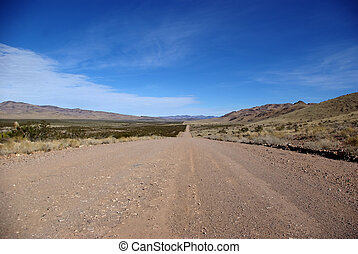 Dirt Road - Dirt road in rural Nevada