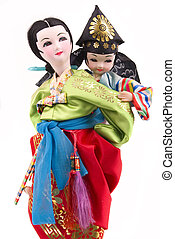 Dolls - Asian mother and child dolls (Korean)