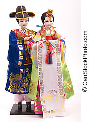 Dolls - Asian bride and groom dolls