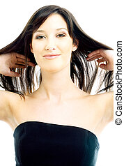 brunette with long hair - picture of lovely brunette with...