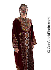 Traditional Dress - Ethnic girl wearing traditional clothing...