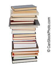 Books - Isolated books stack on white background