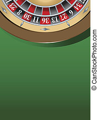 roulette table - illustration of a roulette table, gambling...
