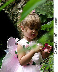 Fairy princess - A young girl with fairy wings