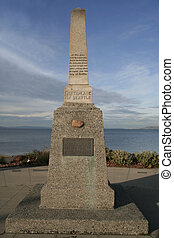 """Birthplace of Seattle - Monument column \""""Birthplace of..."""