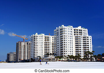 Seafront Hotel - Huge hotel complex by the beach with blue...