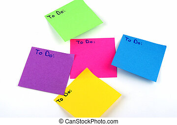 To Do Lists - Colorful post it note with the words to do...