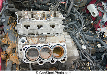 Something is Missing - This is an engine block in a stolen...