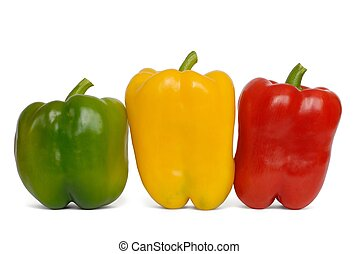 Three Peppers - Isolated peppers on white background