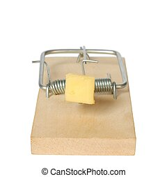 Mousetrap - Isolated mousetrap on white background