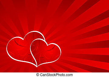 Heart background - Abstract Valentines background with...
