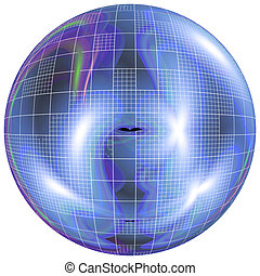 Abstract spherical picture