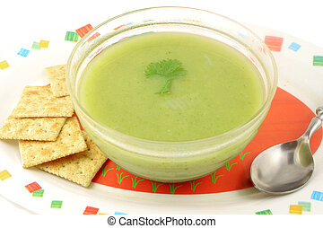 broccoli creamed soup - delicious and healthyvegetarian...