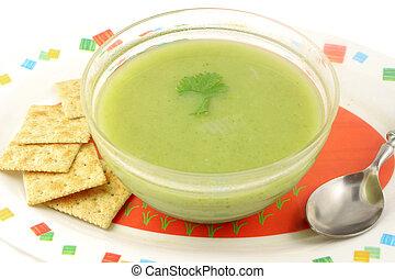 broccoli creamed soup - delicious and healthyvegetarian...