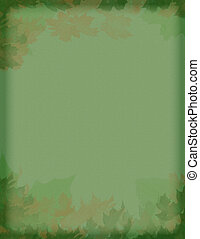 vintage leaves - vintage styled green and brown leaves motif...