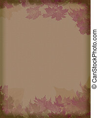 vintage leaves - vintage styled burgundy and brown leaves...