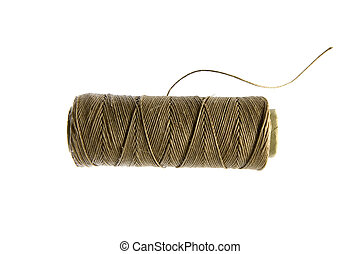 Hemp cord - A natural color hemp cord spool, isolated
