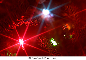 Christmas tree lights with starburst