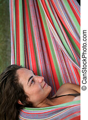 woman in hammock
